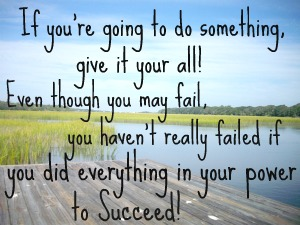 If You Don't Succeed, Do You Really Fail?