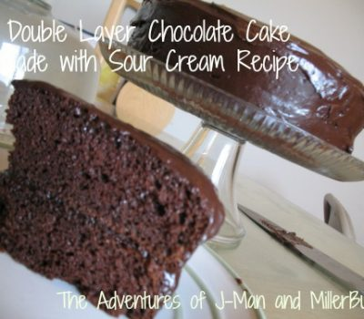 Simply Delicious and Deliciously Simple Chocolate Sour Cream Double Layer Cake Recipe!