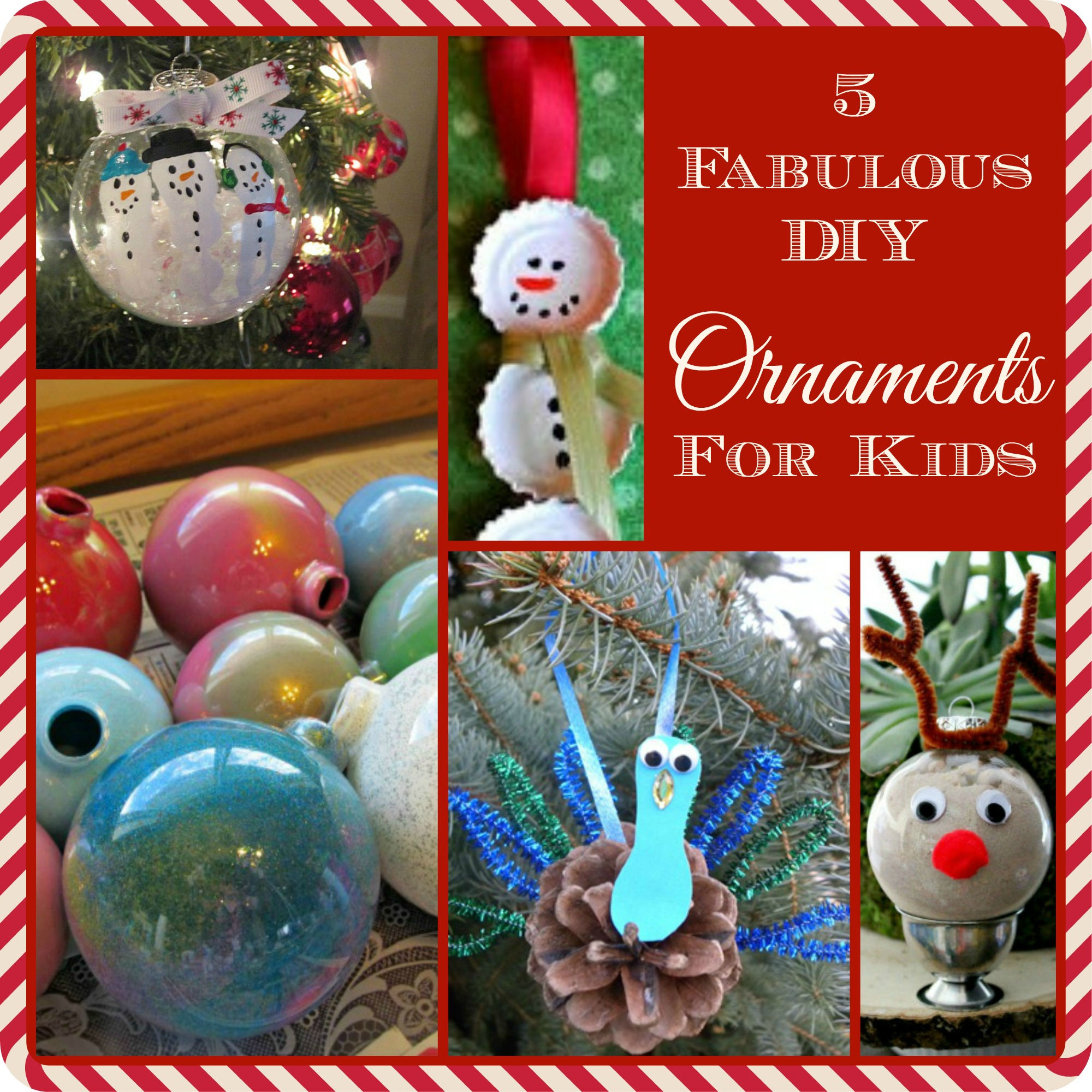 5 Fabulous DIY Ornaments for Kids