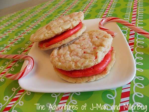 Candy Cane Cookie Sandwich7