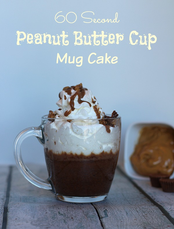 60 Second Peanut Butter Cup Mug Cake