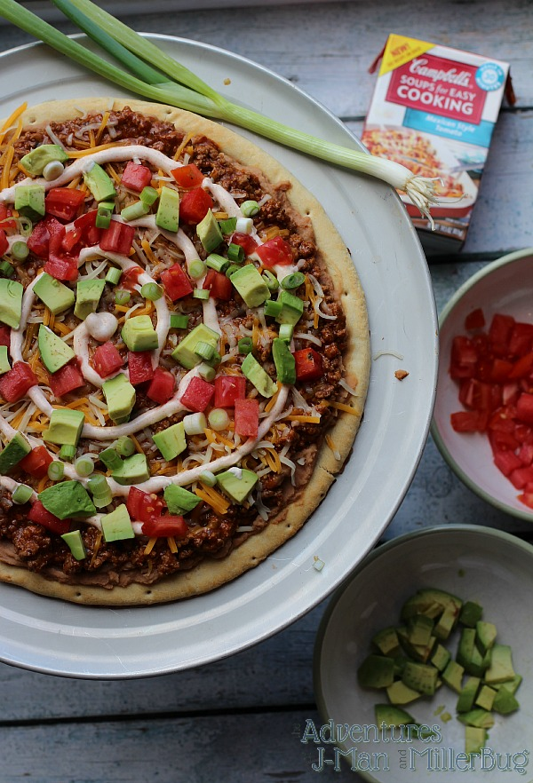 #WeekNightHero #ad Mexican Pizza Process 5