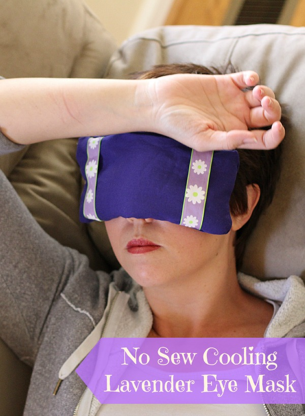 #LongLastingScent #ad No Sew Cooling Lavender Eye Mask