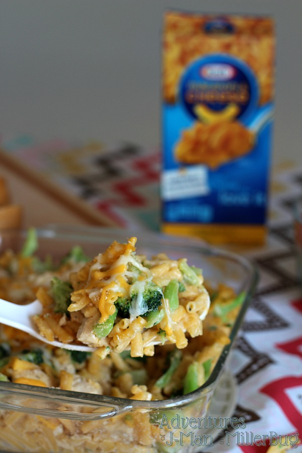 #YouKnowYouLoveIt #ad Spoon of Mac and Cheese Casserole