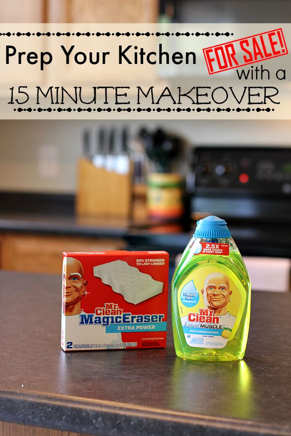 Prep Your Kitchen For Sale with a Fifteen Minute Makeover