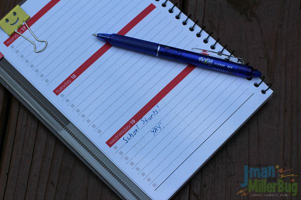#EraseStress #ad Writing in Planner 2