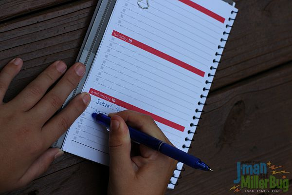 #EraseStress #ad Writing in Planner