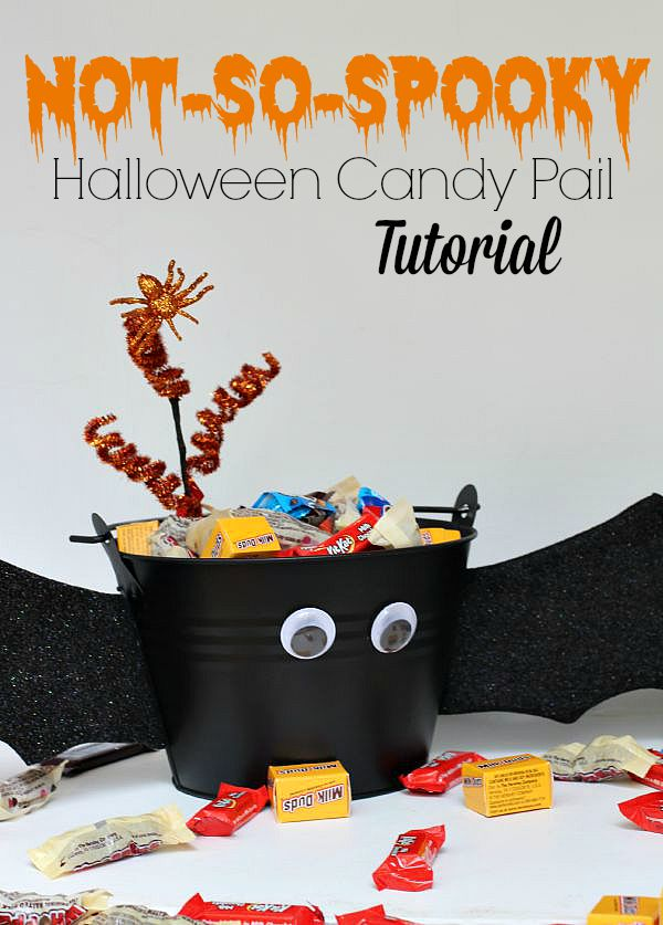 #TrickorSweet #ad Not So Spooky Halloween Candy Pail Tutorial