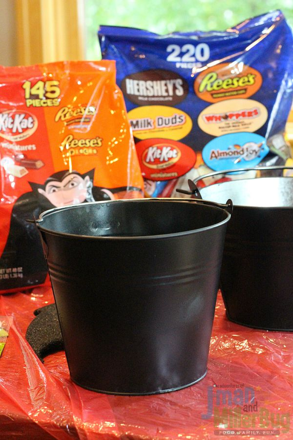 #TrickorSweet #ad Painted Buckets