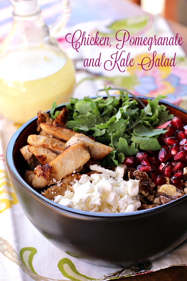 Chicken, Pomegranante and Kale Salad