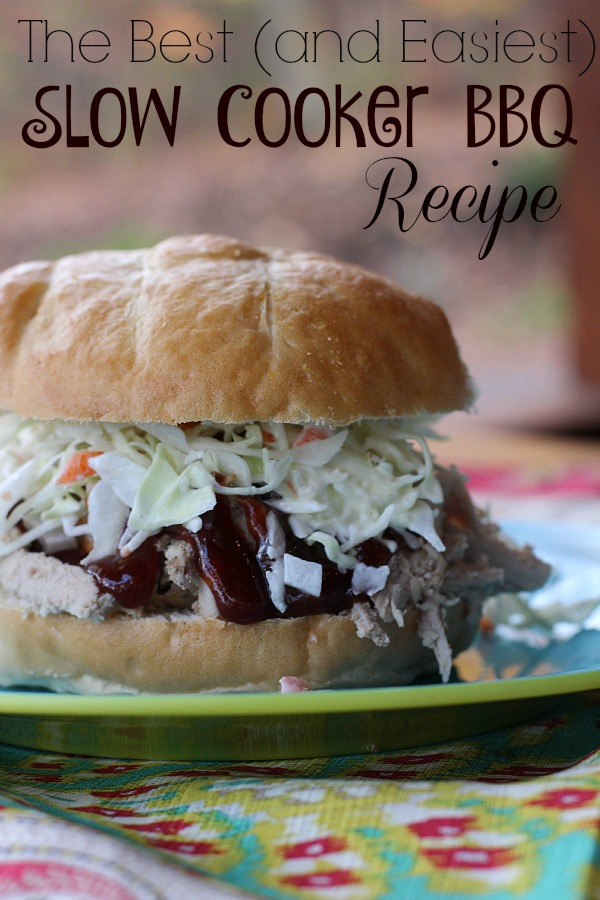 The Best (and Easiest) Slow Cooker BBQ Recipe
