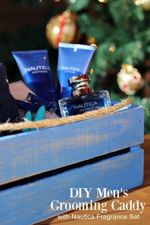 #GiftingAMemory #ad DIY Men's Grooming Caddy with Nautica Fragrance Set