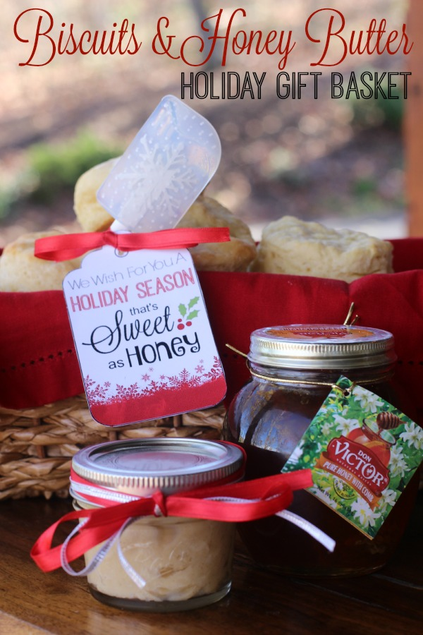 #HoneyForHolidays #ad Biscuits and Honey Butter Holiday Gift Basket