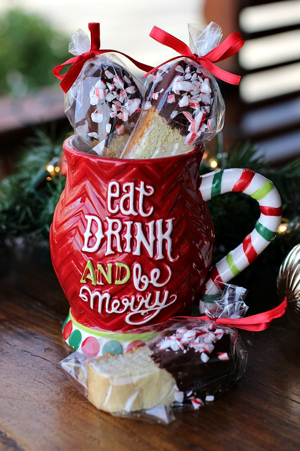 Chocolate Dipped Peppermint Biscotti
