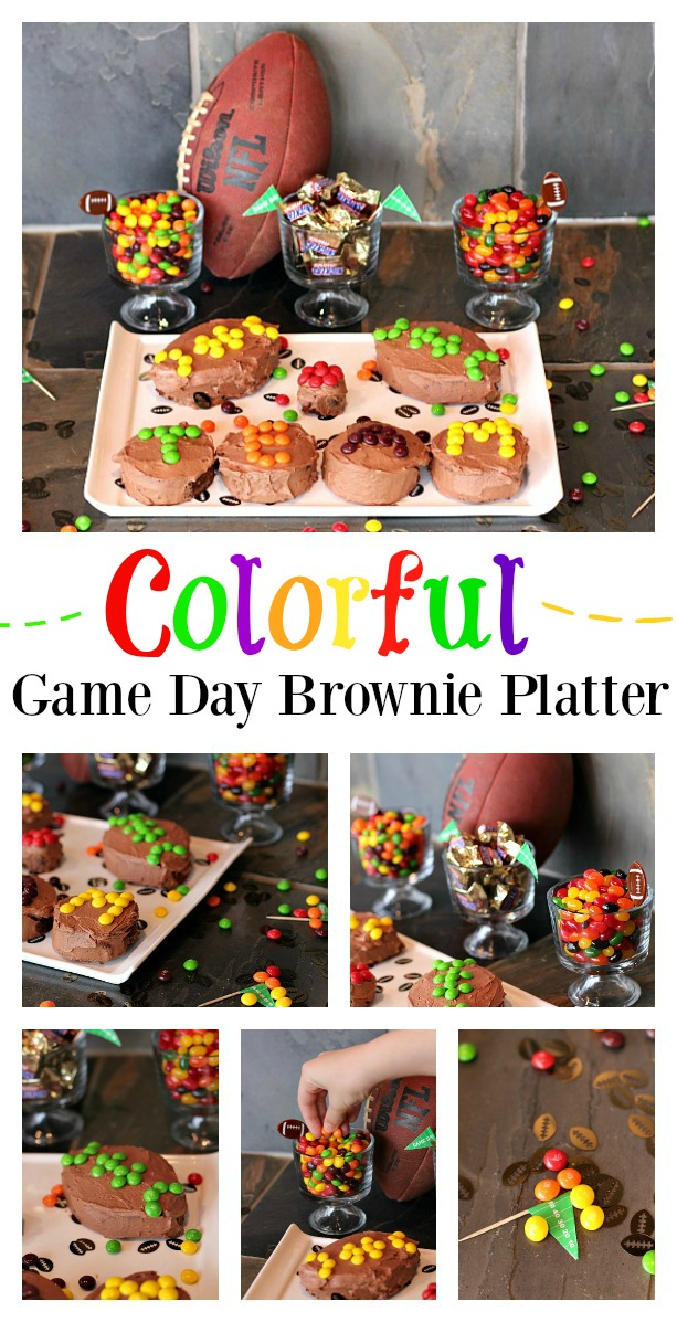 Colorful Game Day Brownie Platter