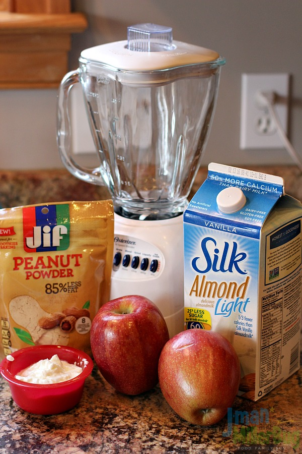 #StartWithJifPowder #ad Apple and Peanut Butter Smoothie Ingredients