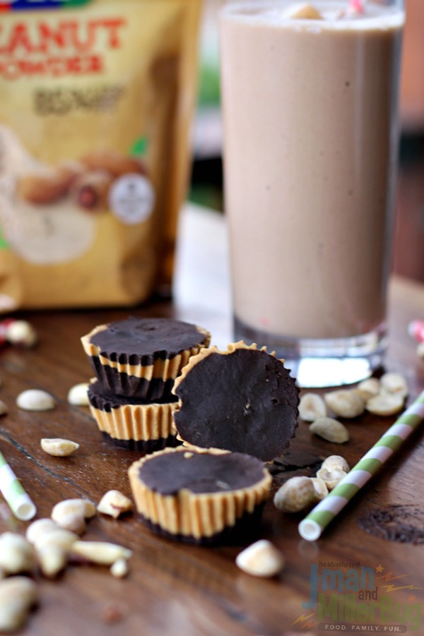 #StartWithJifPowder #ad Apple and Peanut Butter Smoothie and Guilt Free Peanut Butter Cups 3
