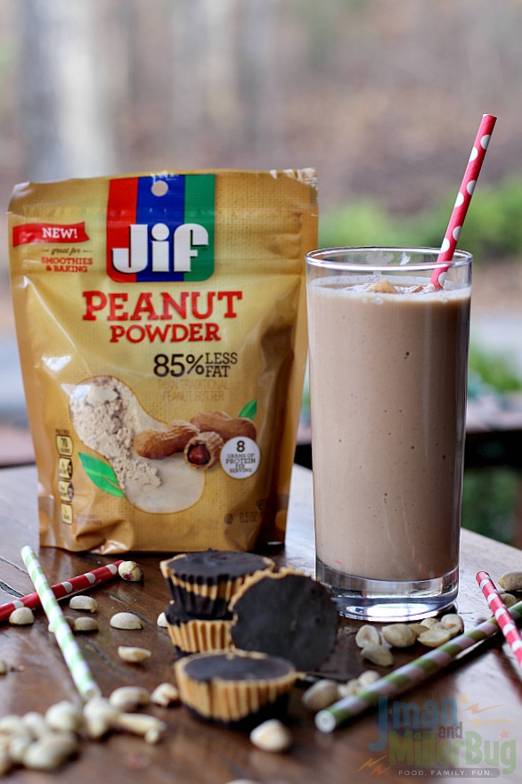 #StartWithJifPowder #ad Apple and Peanut Butter Smoothie and Guilt Free Peanut Butter Cups