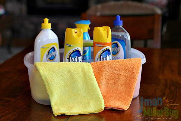 #MyPledgeCastle #ad Spring Cleaning Checklist Process 2