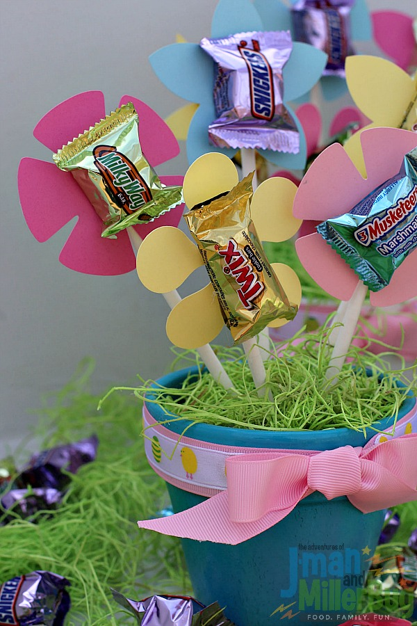 #SweeterEaster #ad Easter Candy Bouquet 2