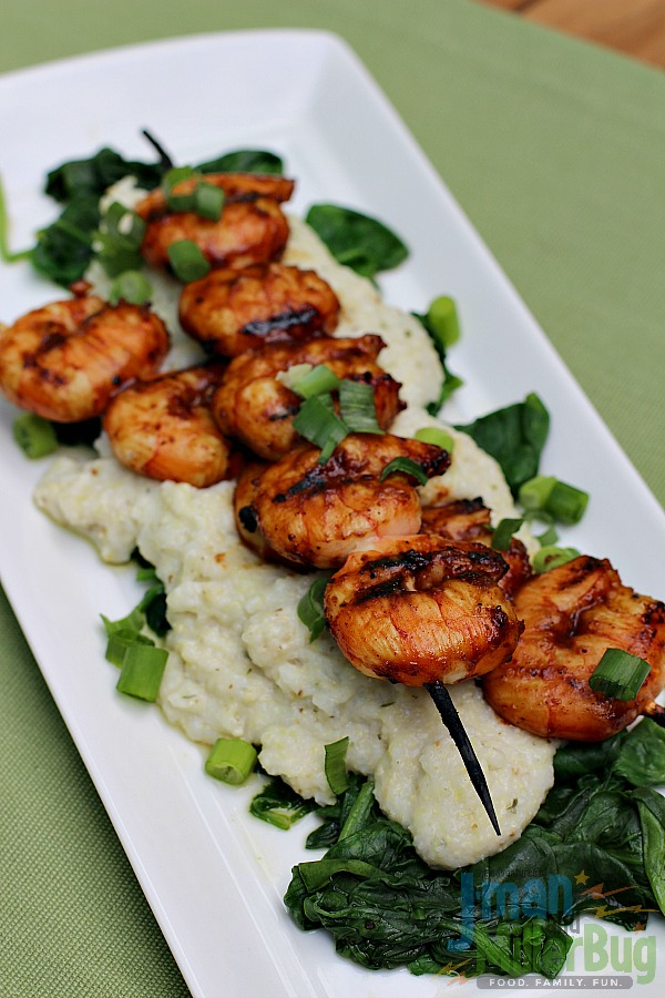 BBQ Shrimp with Blue Cheese Grits Final 4