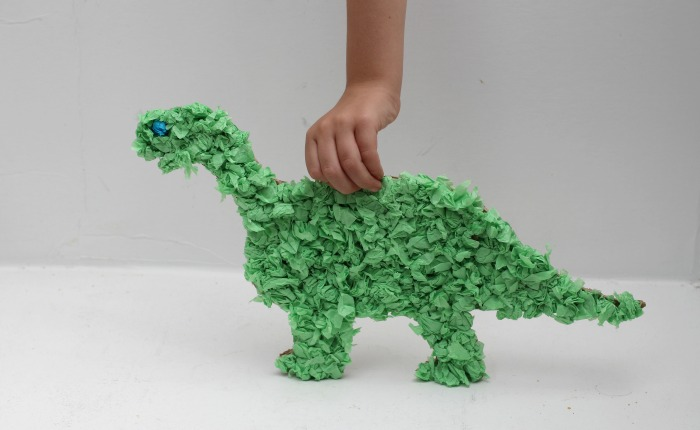 Tissue Paper Dinosaur Craft Mom Unleashed