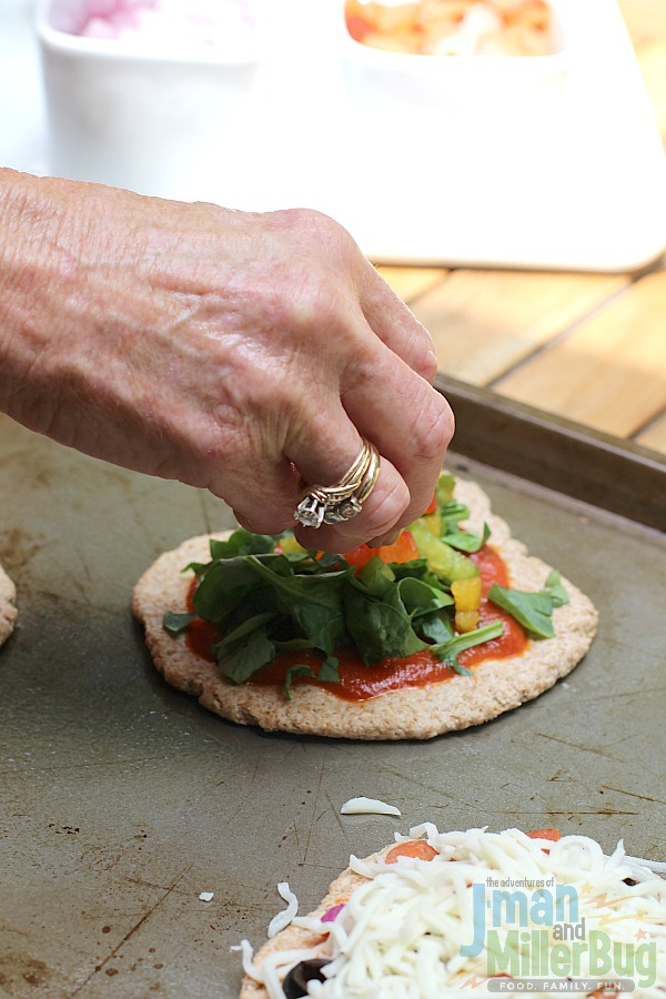 #ShareYourMiracles #ad DIY Mini Pizza Bar Process 10