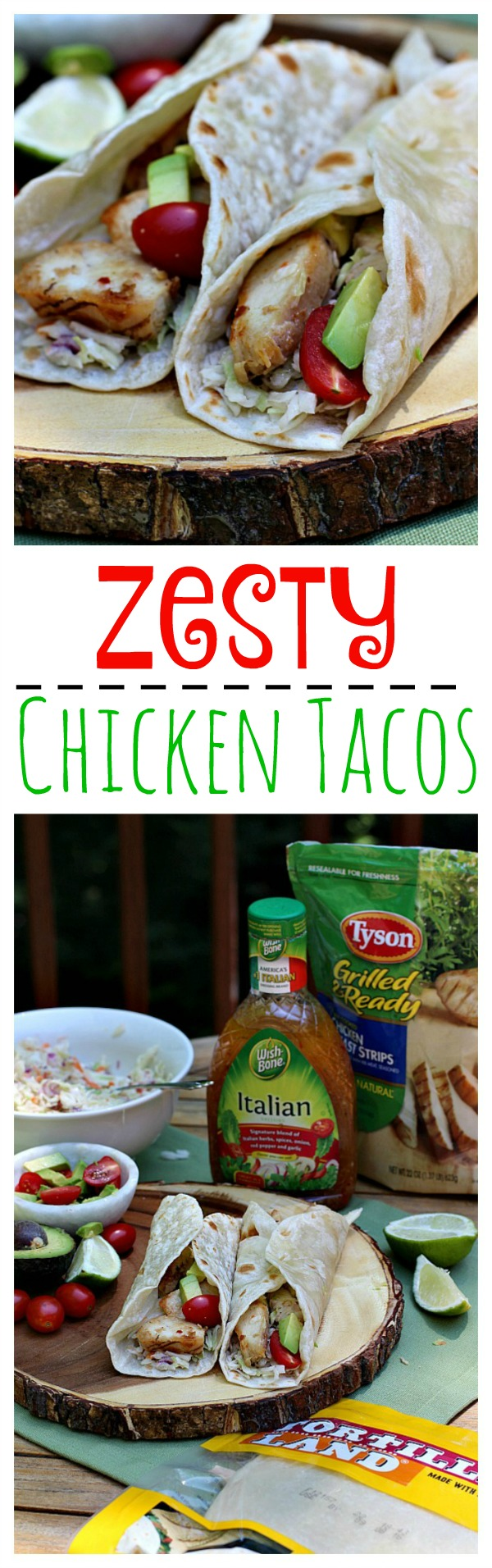 Zesty Chicken Tacos Collage