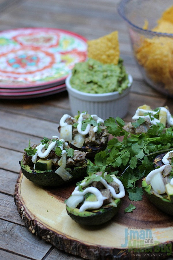 #AuthenticSalsaStyle #ad Grilled Steak Stuffed Avocados Final 2