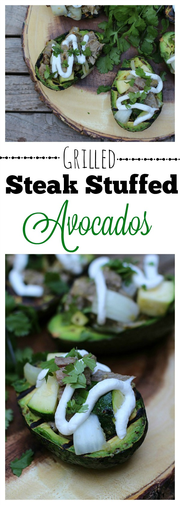 #AuthenticSalsaStyle #ad Grilled Steak Stuffed Avocados Final