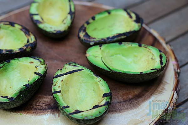 #AuthenticSalsaStyle #ad Grilled Steak Stuffed Avocados Process 12
