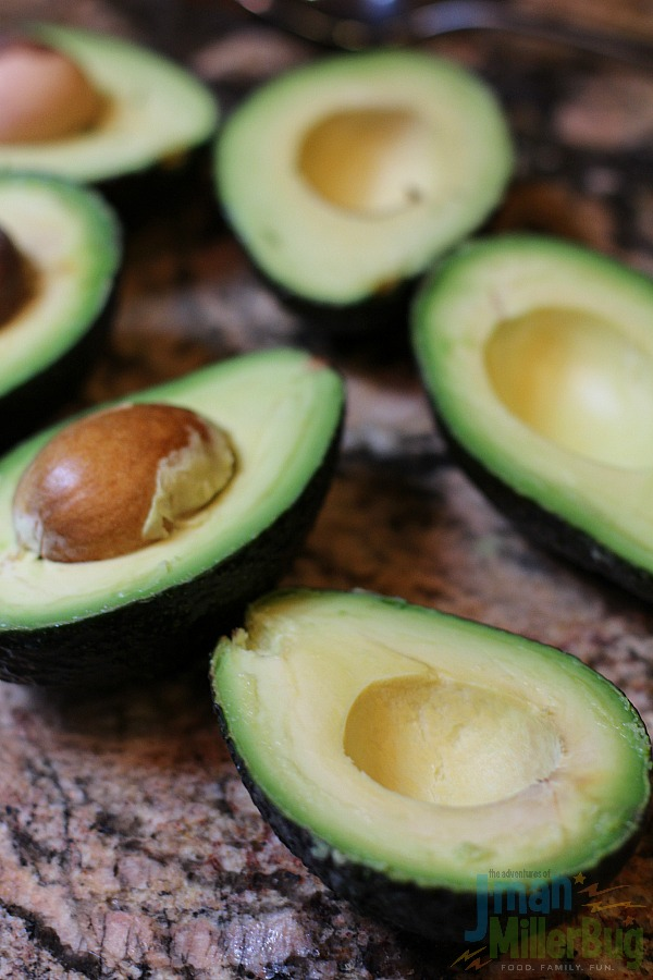 #AuthenticSalsaStyle #ad Grilled Steak Stuffed Avocados Process 5