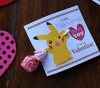 Printable Pikachu Valentine's Day Cards