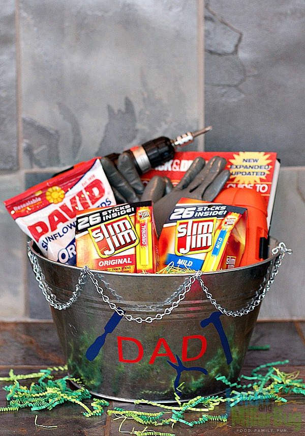Bold easter basket ideas for the diy dad mom unleashed with all of my goodies added to my basket i stepped back to take in the final product and can i just say what man wouldnt want this awesomely bold easter negle Choice Image