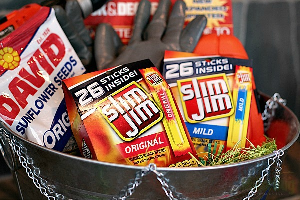 Bold easter basket ideas for the diy dad mom unleashed ready to create your own bold easter basket for the guy in your life nows the perfect time think though his favorite things dont forget the slim jim negle Choice Image