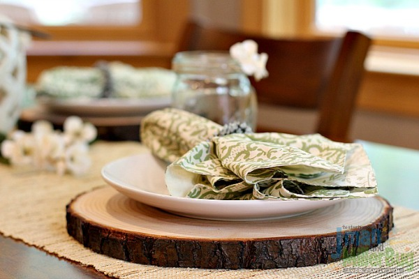 DIY Rustic Wooden Plate Chargers - Mom