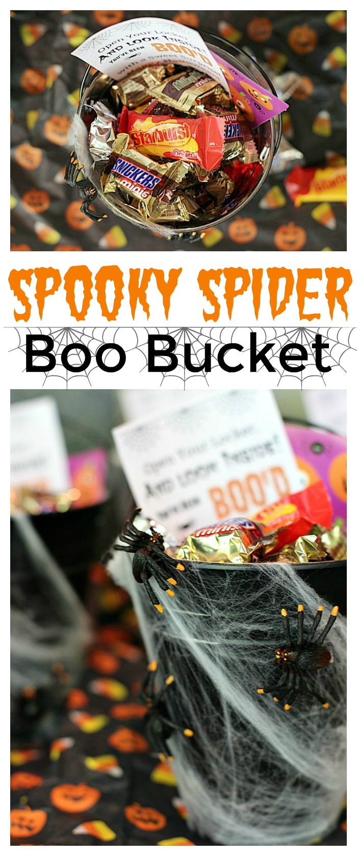 Spooky Spider Boo Buckets Mom Unleashed