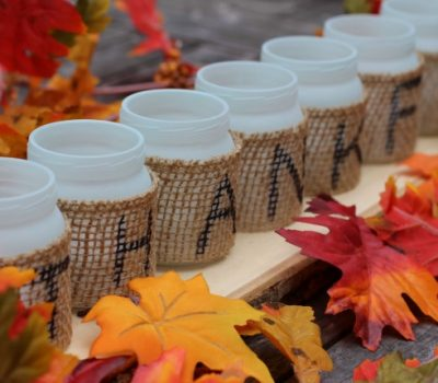 Upcycled Thankful Table Centerpiece & What You Should Know About Your Baby Food