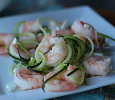 Zesty Garlic Shrimp and Zoodles