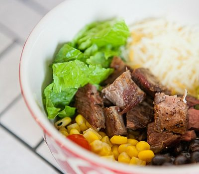 Grilled Flank Steak Burrito Bowls