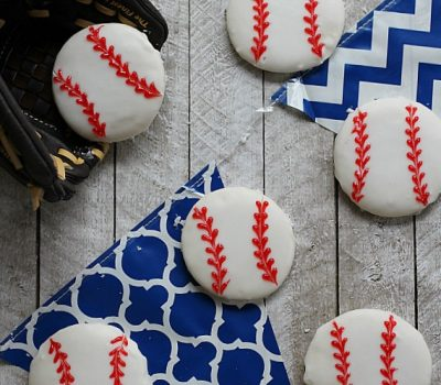 Easy Baseball Cookies & How to Bake Better with Reynolds KITCHENS® Quick Cut™ Plastic Wrap