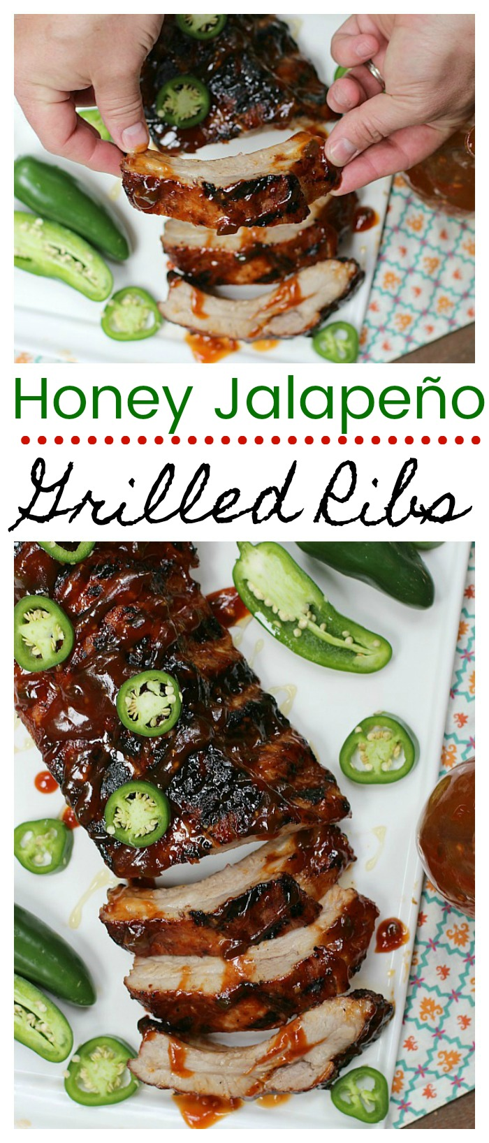 Honey Jalapeño Grilled Ribs