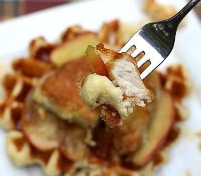 Pork & Waffles with Buttered Brown Sugar Apples