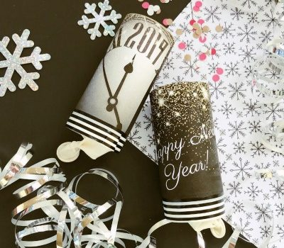 New Year's Eve Confetti Cannon Tutorial with a Free Printable