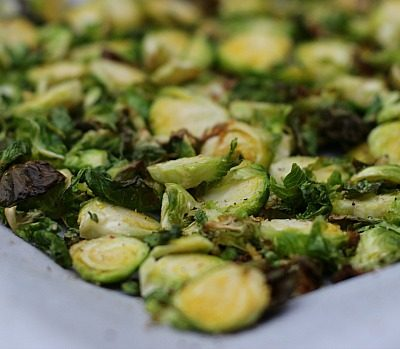 Air Fried Brussels Sprouts