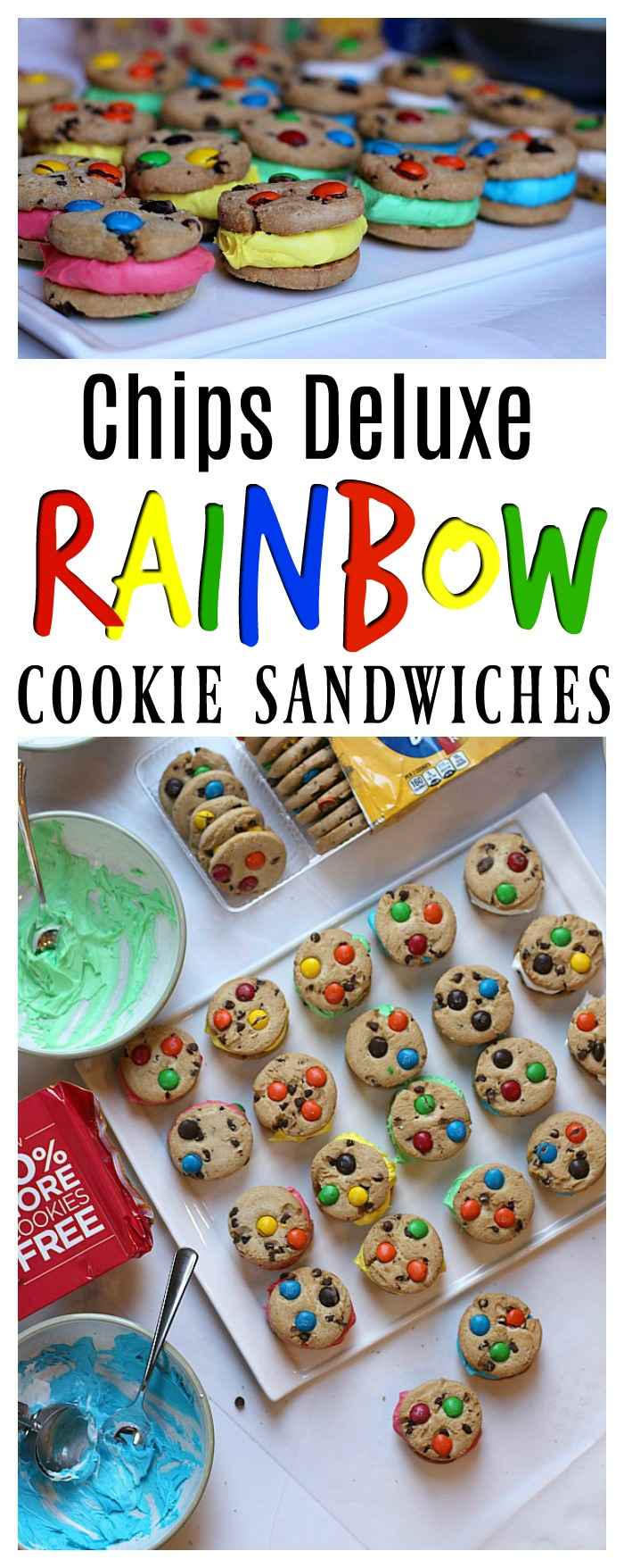 Chips Deluxe Rainbow Cookie Sandwiches
