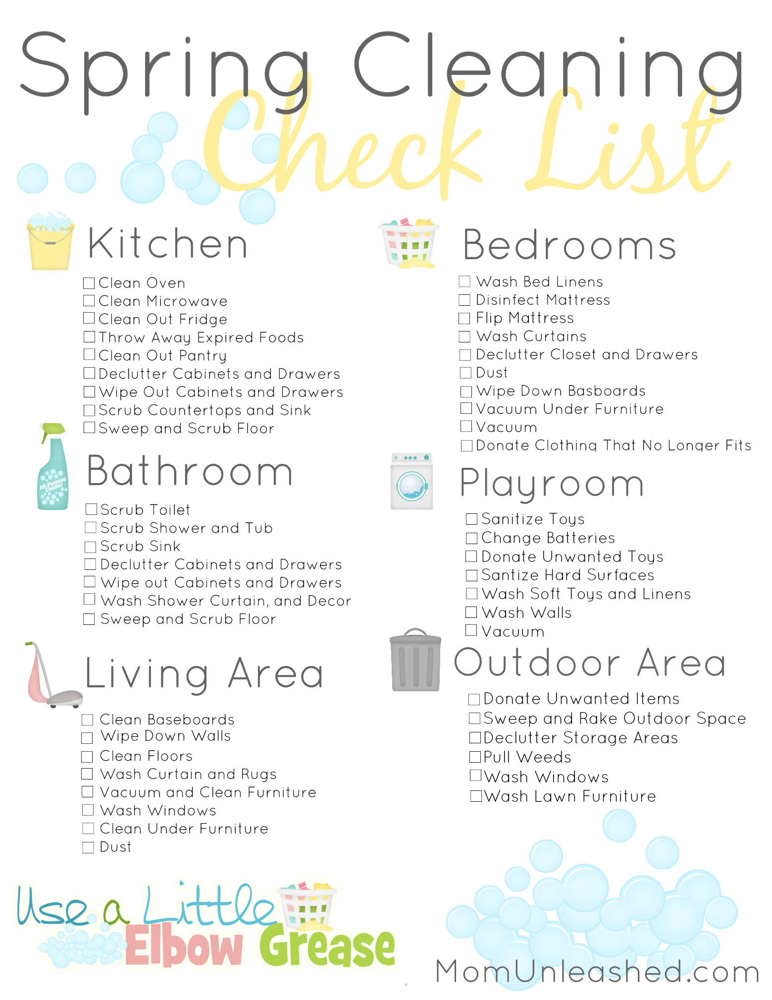 graphic relating to Cleaning Supplies List Printable titled Printable Spring Cleansing Listing Uncomplicated Cleansing Strategies