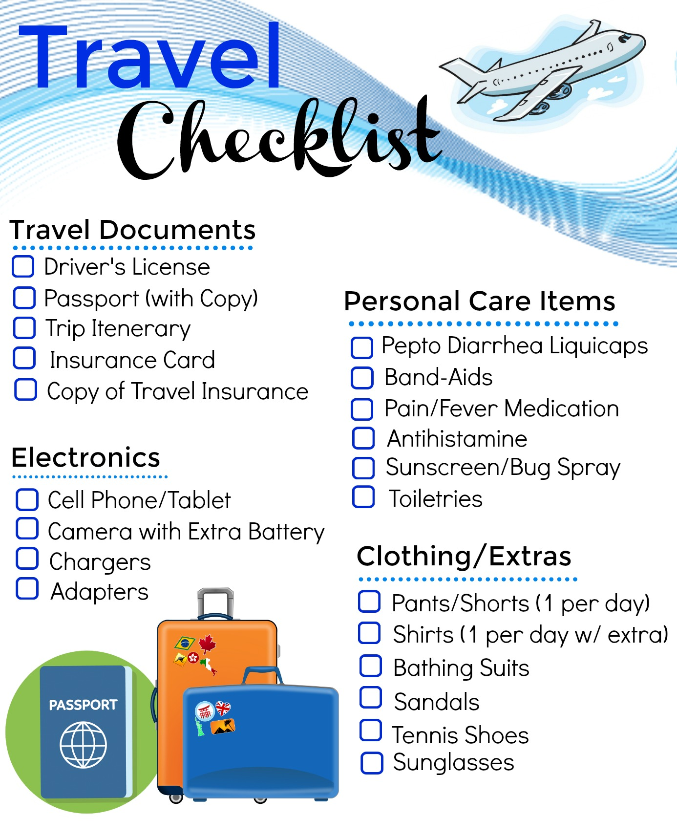Printable Travel Checklist And The One Item I Never Travel Without Mom Unleashed