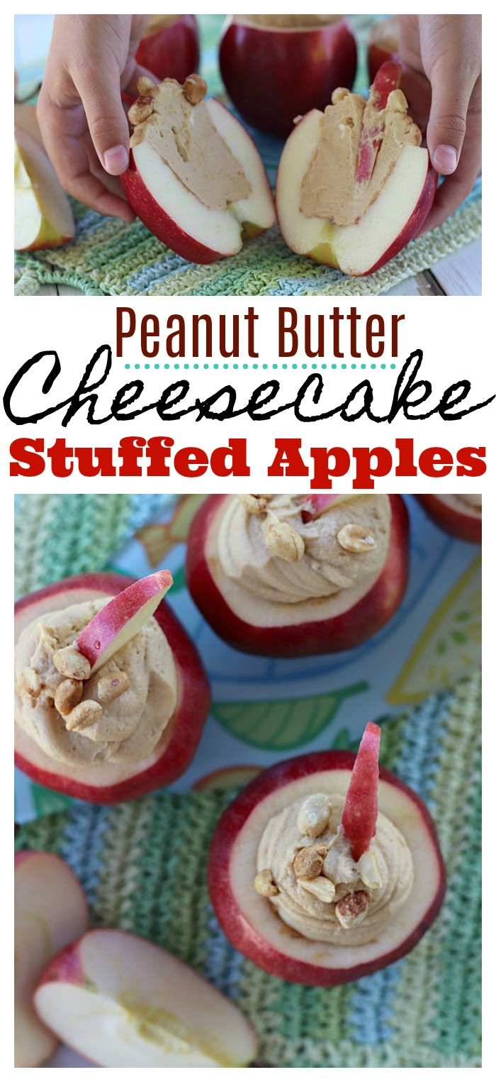 Peanut Butter Cheesecake Stuffed Apples